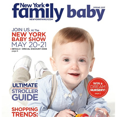 new york family baby cover