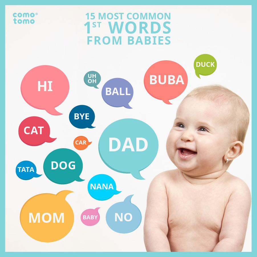 15 most common first words from babies