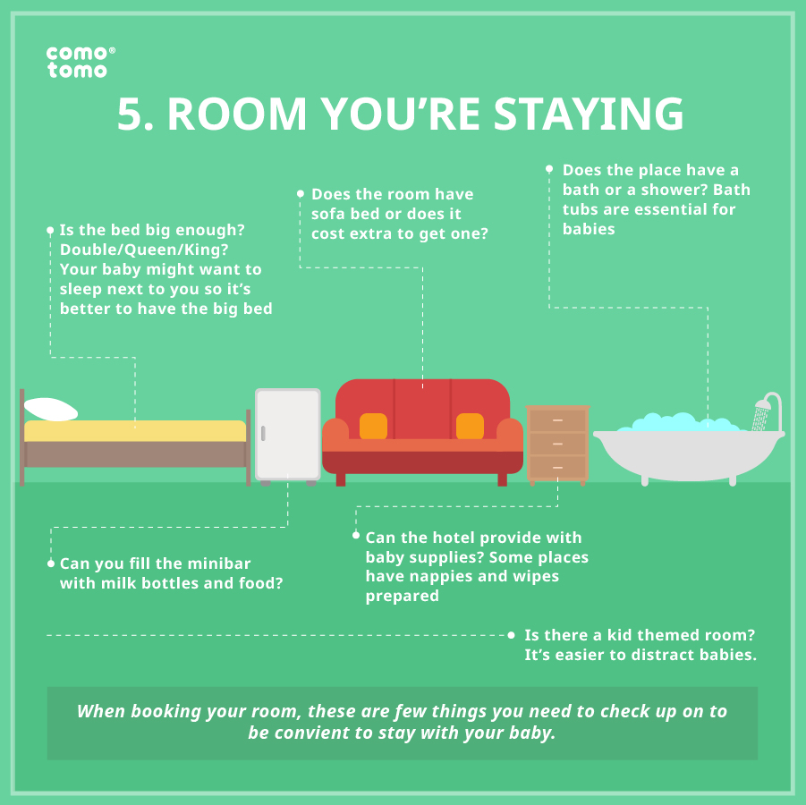 room you are staying with your baby
