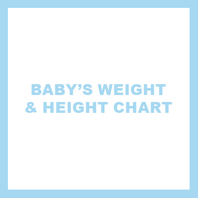 baby's weight and height chart_