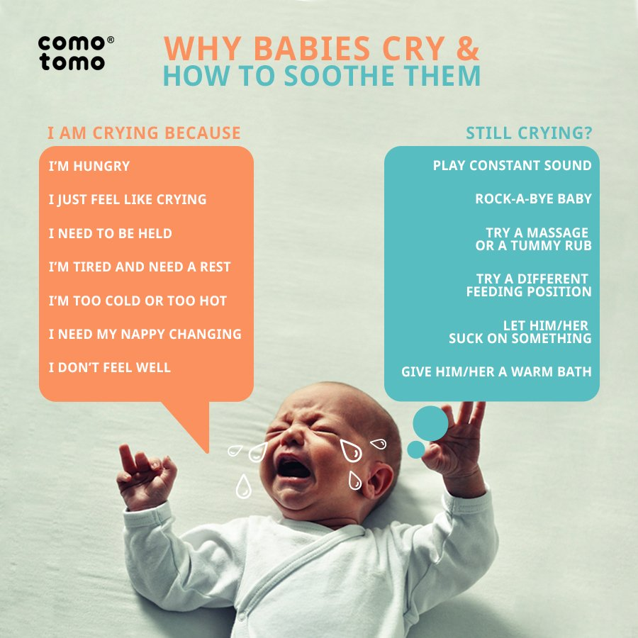 why babies cry and how to soothe them