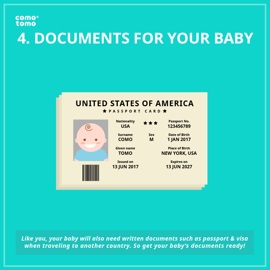 traveling documents for your baby